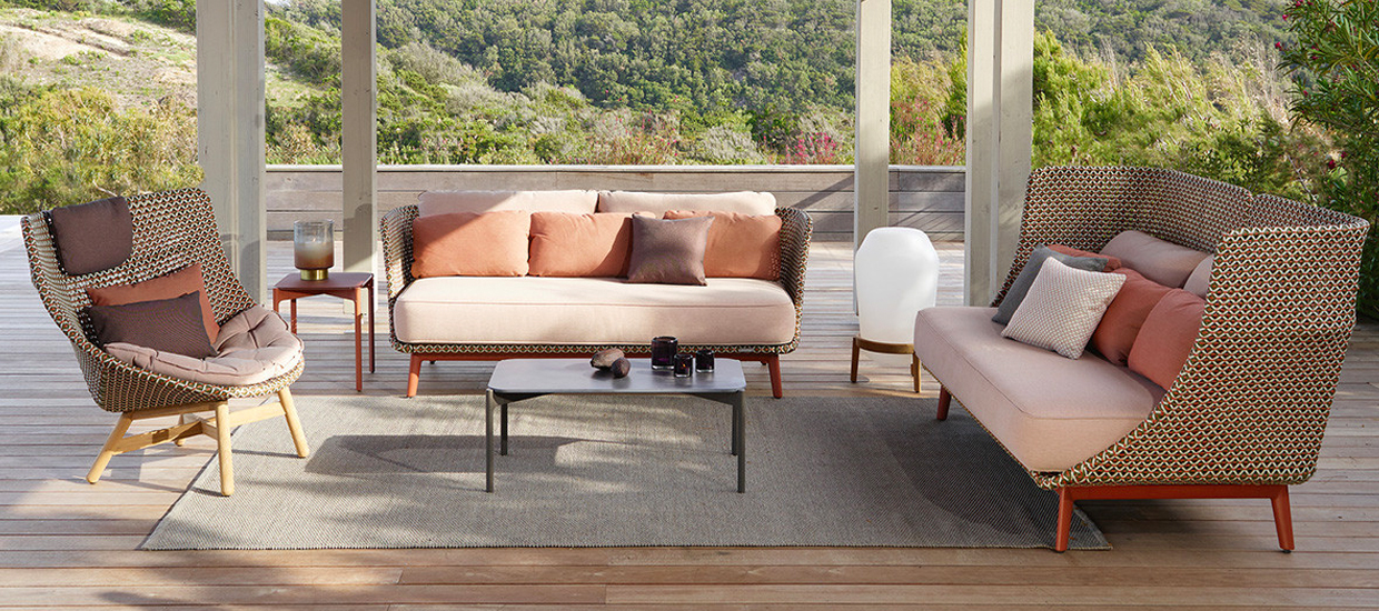 Dedon: Outdoor Sofa Mbarq und Sessel Mbrace